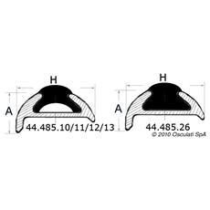 Inserto PVC nero per 44.485.65