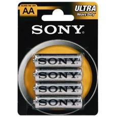 Stilo Sony 4 Batterie Pile Aa Sum3 R6 Ultra 12 Confezioni Stilo 1.5 V