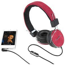 Cuffie Hi-Deejay On-Ear con Control Talk Colore Rosso