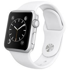 APPLE - Watch Sport Cassa da 38 mm in Alluminio Colore Argento e Cinturino Sport Bianco con Bluetooth e...