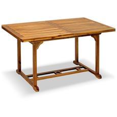 Tavolo Da Giardino Rettangolare In Legno Estensibile 180 Centimetri