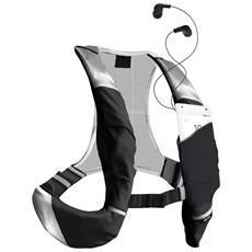 Zaino Sportivo a Imbracatura Regolabile con Tasca Porta Smartphone Taglia L Colore Nero e Grigio