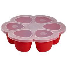 Piatto Congelatore Multi Porzione Silicone 6x150ml Rosso 912560