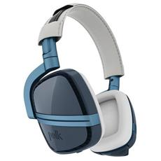 4 Shot Stereofonico Padiglione auricolare Blu, Bianco cuffia e auricolare