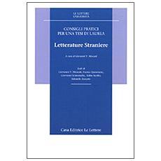 Consigli pratici per una tesi di laurea. Letterature straniere