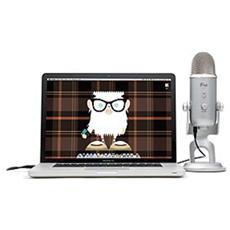 Microfono a Condensatore 20 dBi, 20 - 20000 Hz, Cablato, 550g per PC