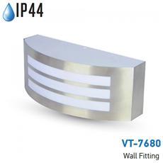 Lampada Da Muro Applique E27 Acciaio Inox Esterno Ip44 Vt-7680 7514