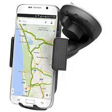 Supporto Universale da Auto per Smartphone fino a 6'' Colore Nero