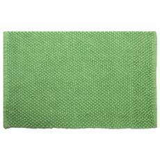 Tappeto Bagno Pallini Verde 100% Cotone