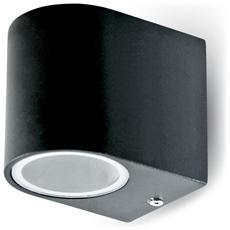 Lampada Da Muro Applique Gu10 Nero Esterno Ip44 Vt-7651 7508