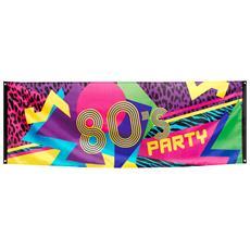 Striscione In Tessuto 80's Party 74 X 220 Cm Taglia Unica