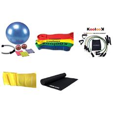 Pilates Set Yoga Kit Fitness Completo Palestra Full Kit Corso Yoga Koolook