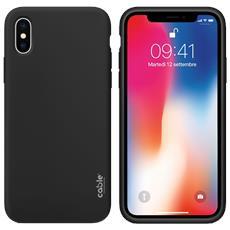 Ivelvet Black For Iphone X, Custodia Case Cover Apple Iphone X Protezione E Design, Materiali Di Alta Qualità, Silicone Liquido Piacevole A Tatto Resistente A Urti