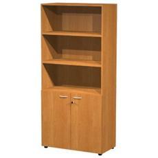 Libreria armadio alto ECO ad ante battenti e a giorno in melaminico cm 90x45,8x200 h