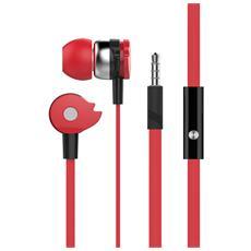 SB-HP A1RE - Auricolari Stereo In-Ear con Microfono e Telecomando Rosso