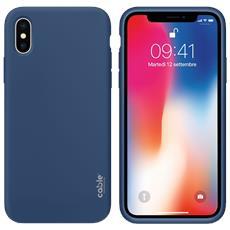 Ivelvet Blue Cobalt For Iphone X, Custodia Case Cover Apple Iphone X Protezione E Design, Materiali Di Alta Qualità, Silicone Liquido Piacevole A Tatto Resistente A Urti