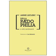Della paedophilia e altri sentimenti