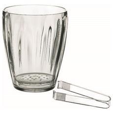 GUZZINI - Secchiello ghiaccio con pinza aqua trasparente