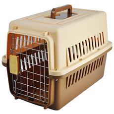 Trasportino Per Animali 60 X 38 X 36 Cm Marrone