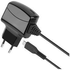 IPW-USB-MICRO3 - Caricatore USB-C 3A con Cavo 1,6m Spina Europea 2 pin Nero