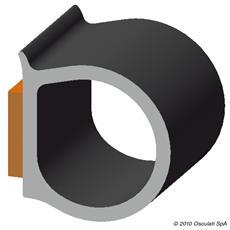 Profilo autoadesivo 11,4 x 10,3 mm