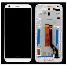 Schermo Display Lcd Vetro Touch Screen E Frame Bianco Per Desire 626