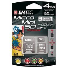 4GB Micro / Mini / SD Card, MicroSD, Grigio, 147 x 97 x 18 mm, USB