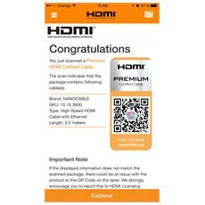 HDMI V2.0, 0.5m 0.5m HDMI HDMI Nero cavo HDMI