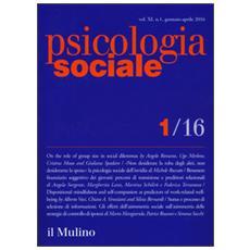 Psicologia sociale (2016) . Vol. 1