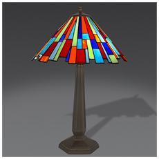 Lampada Da Tavolo Arlecchino In Vetro Stile Tiffany
