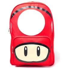 Nintendo: Mushroom Placed Print Red (zaino)