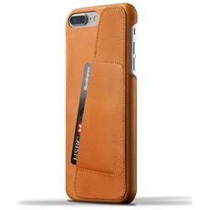 """Leather Wallet Case 5.5"""" Cover Marrone chiaro"""