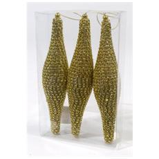 Ghiaccioli Decorativi Diametro 18 cm Colore Oro
