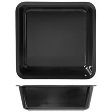 Vaschetta Con Bordo Melamina 25x25x8 Nera Contenitori Per Alimenti