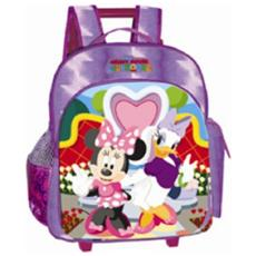 Zaino Scuola Mini Trolley Club House Minnie E Paperina Rosa *05977