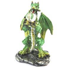 figurine 'dragon mystique' verde - 7 cm - [ n6798]