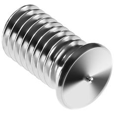 Perni A Saldare - M5 - 10 Mm - Acciaio Inox - 250 Pezzi