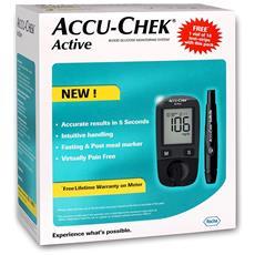 Accu Chek Active Kit Di Misrurazione Della Glicemia - Glucometro + Strisce + Lancette Pungidito