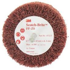 Scotch-brite Pennello Ff-zs Grossolana Diametro Di 75 Mm X 1