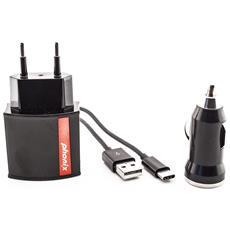 USB-C, 5V, 2.4A, nero