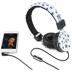 Cuffie Hi-Deejay On-Ear con Control Talk Colore Nero e Bianco