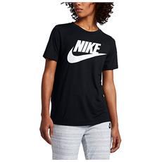 T-shirt Donna Sportswear Essential Nero L