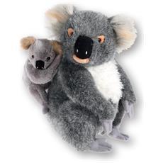 245778 Koala giocattolo Acrilico Beige, Grigio, Bianco peluche