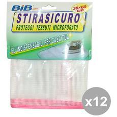 Set 12 Rete Stirasicuro 38x60 Cm. Cod. fh4494 Bucato