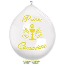 20 Palloncini In Lattice Prima Comunione