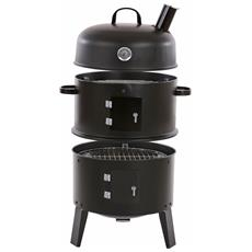Barbecue Affumicatore Forno Smoker 3in1 Dalvik T765 83x52x42cm Con Termometro