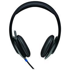 LOGITECH - Cuffie con Microfono per PC Connessione Cavo Nera 2 m fe9c5151c370