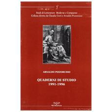 Quaderni di studio 1991-1996