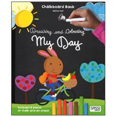 My day. Drawing and coloring. Chalkboard book. Con gadget