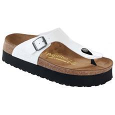 Gizeh Plateau White Sandalo Donna Eur 37